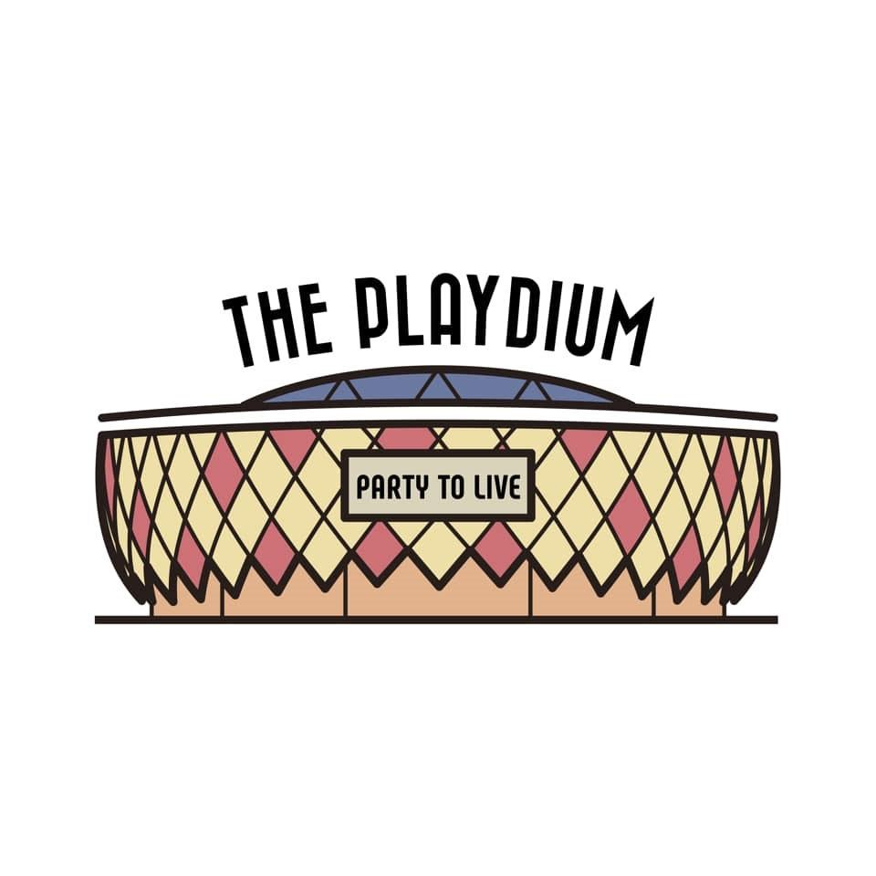 THE PLAYDIUM PARTY TO LIVE  Rectangle,Font,Logo,Graphics,