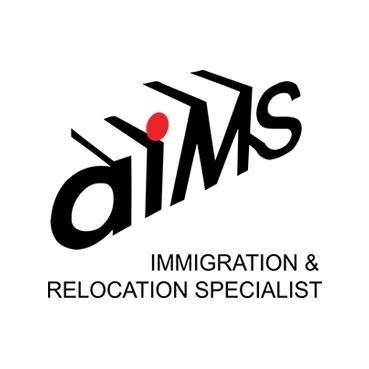 aims IMMIGRATION & RELOCATION SPECIALIST  Text,Logo,Font,Brand,Graphics