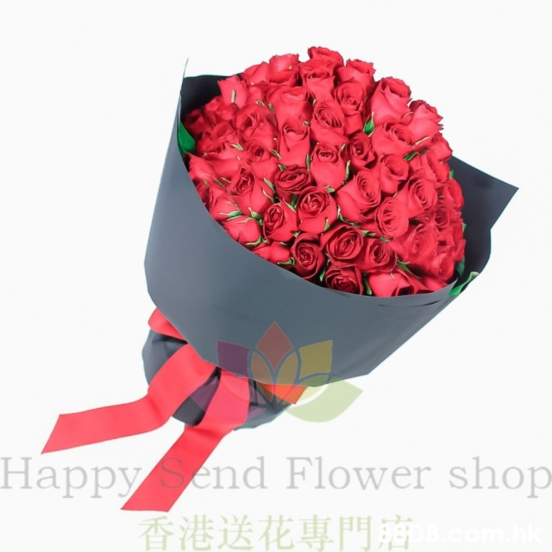 HappySend Flower shop 香港送花專門 Нарру  Flower,Bouquet,Red,Rose,Cut flowers