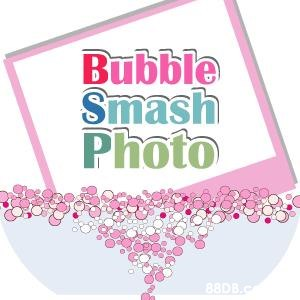 Bubble Smash Photo 88DB.c  Pink,Text