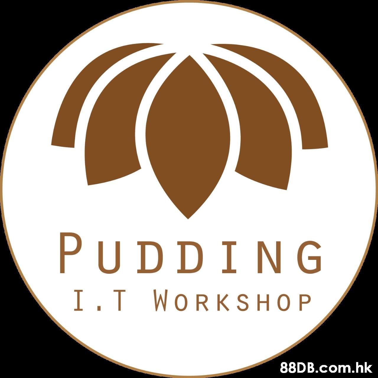 PUDDING I.T WORKSHOP .hk  Logo,Label,Font,Trademark,Circle