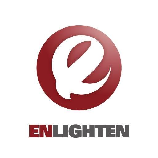 ENLIGHTEN  Logo,Font,Trademark,Graphics,Brand