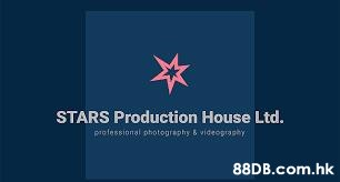 STARS Production House Ltd. professional photography & videography .hk  Logo,Text,Font,Brand,Graphics