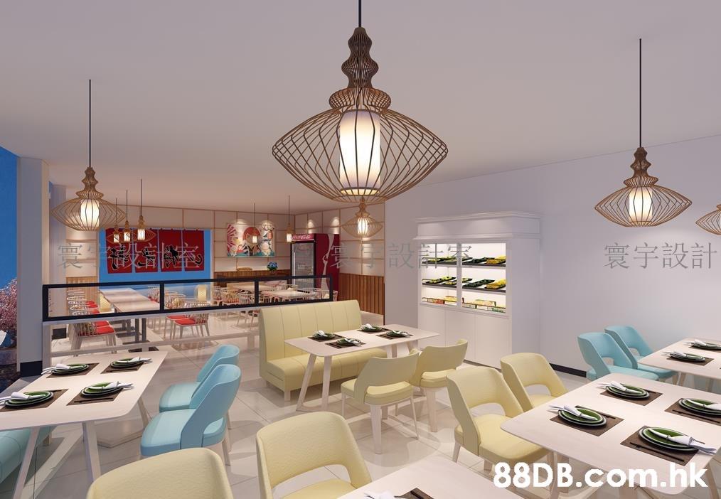 寰宇設計 .hk  Chandelier,Ceiling,Room,Interior design,Light fixture