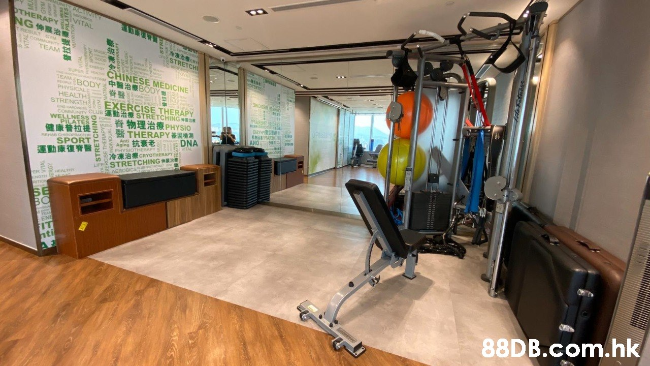 JNITY ACTIVITY OTHERAPY NG伸展治 TRESULT GYM MERORICS VITAL COMMUNITY TEAM PHYSOHER P STRETCHI MUSIC sOoD ENERY SUPER E MA CHINESE MEDICINE COPBODY PABODY 脊醫 ( STRENGTH EXERCISE THERAPY COMMUNITY CLUB A STRETCHINGE HOTSSTE TEAM PHYSICALE HEALTH Peica ec ENERCY EALTH CHIERE NEDICIME HE HARONESS YSARHT 3OR WELLNESS O FORM PILATES 脊物理治療PHYSIO MUSIC 健康普拉提 醫THERAPY基因機测 DNA VITAL KYSARHT AMO REHAD CHIROPRACTOR 抗衰老 Anti Aging SPORT F adran Z FHYSIOTHERAPY E MIA 運動康復脊醫 LIFE STRETCHING a AFROBICsQuse REIT 冷凍治療CRYOTHERAPY HEALTHY USIC ER ENGTH RITION SE BO TEAS ENE FIT hti .hk STRETCHING  Gym,Room,Exercise machine,Exercise equipment,Building