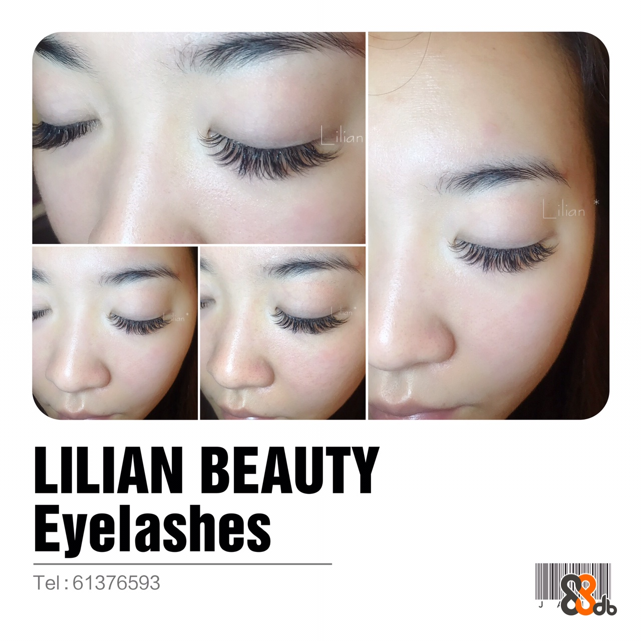 slian Lilian LILIAN BEAUTY Eyelashes Tel:61376593  Face,Eyebrow,Eyelash,Skin,Nose