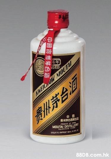 RI GED KWEIC OW MOUTAI 素茅台活 MOUTAI DISTILLERT KWEICHOW CHNA .hk  Product,Liquid,